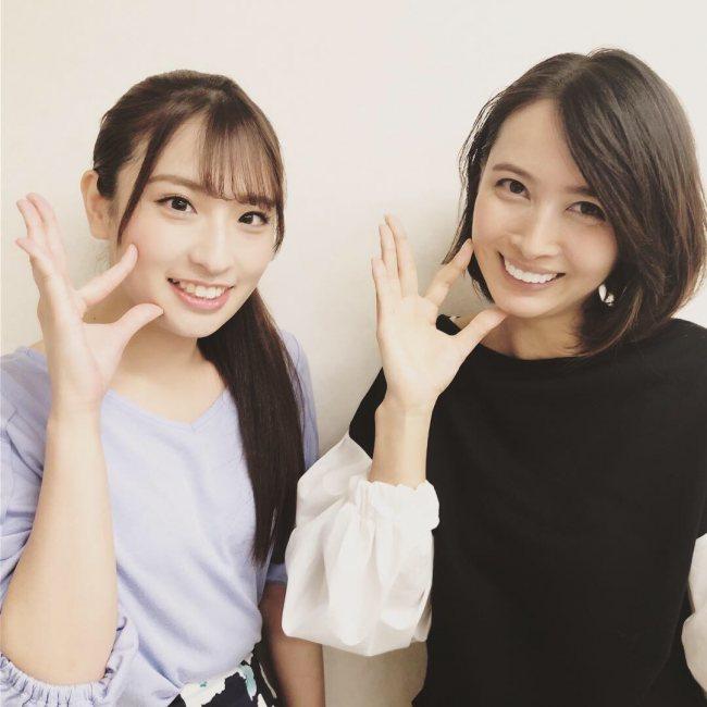 仕事で共演か?欅坂46ファンの加藤夏希さんと井口眞緒の2ショットが公開!