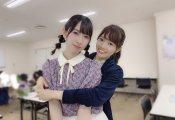宮田愛萌、金村美玖と松田好花にバックハグをしている写真をブログで公開!