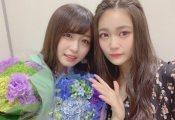 石森虹花と長濱ねる、涙目の2ショットが公開!